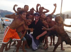 Andy, making friends in Halmahera.
