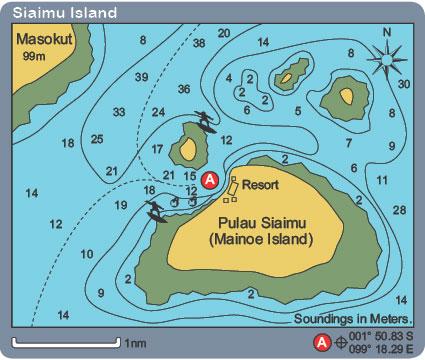 Siaimu Island anchorage