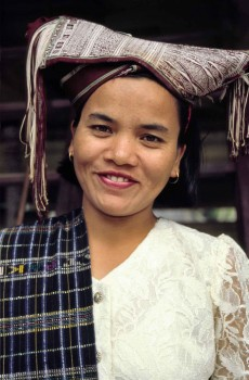 Sumba woman in traditional dress.