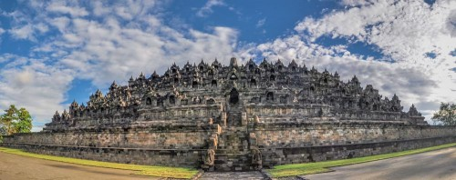 Borobudur Temple, Central Java.